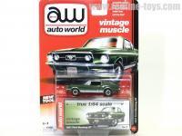 AutoWorld 1967 フォード マスタング GT グリーン 1:64