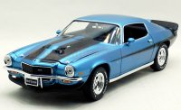 AutoWolrd 1971 シボレー カマロ ボールドウィンモーション ブルー 1:18