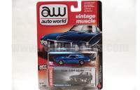 AutoWorld 1969 ポンティアック ファイヤーバード ブルー 1:64