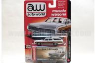 AutoWorld 1969 シボレー キングスウッド エステート ホワイト 1:64