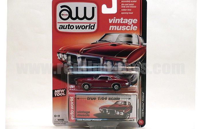 AutoWorld 1969 ポンティアック ファイヤーバード レッド 1:64