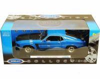 ウェリー 1969 フォード マスタング BOSS302 ブルー 1:18