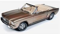 オートワールド 1965 フォード マスタング コンバーチブル GOLD 1:18