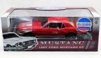 アメリカ限定300個 グリーンライト 1967 フォード マスタングGT RED 1:18