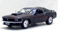ハイウェイ61 1970 フォード マスタング ブラック 1:18