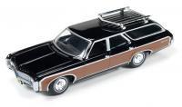 AutoWorld 1969 シボレー キングスウッド エステート ブラック 1:64