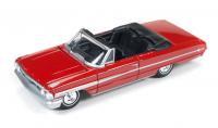 AutoWorld 1964 フォード ギャラクシー 500XL コンバーチブル レッド 1:64