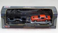 モーターマックス 1955ベルエア Black w/ トレーラー(1977ファイヤーバード) 1:43