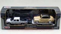 モーターマックス フォードF150 White w/ トレーラー(1948フォード) 1:43