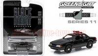 グリーンライト ブラックバンディット#11 1987 フォード マスタング SVO ポリス 1:64