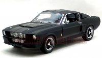 グリーンライト 1967 シェルビー GT500 マットブラック/ブラックストライプ 1:18
