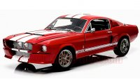 グリーンライト 1967 シェルビー GT500 レッド/ホワイトストライプ 1:18