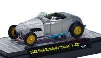 M2 CHIP FOOSE#1w/CASE 1932 フォード ロードスター P-32 シルバー 1:64