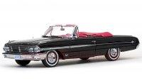 サンスター 1964 フォード ギャラクシー 500XL コンバーチブル ブラック 1:18