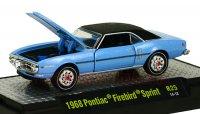 M2 DetroitMuscle #25 1968 ポンティアック ファイヤーバード ブルー/ブラックトップ 1:64