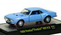 M2 DetroitMuscle #25 1968 ポンティアック ファイヤーバード 400 H.O. ブルー 1:64
