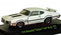 M2 DetroitMuscle #30 1970 オールズモビル カトラス 442 W-30 ホワイト 1:64