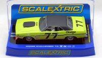 "SCALEXTRIC 1970 ダッジ チャレンジャー T/A  ""#77 SamPosey"" 1:32 スロットカー"