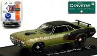 M2 Drivers#31 1971 プリムス HEMI クーダ グリーン 1:64