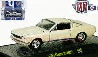 M2 DetroitMuscle#29 1965 シェルビー GT350 クリームホワイト 1:64