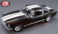 ACME 1965 シェルビー GT350 ブラック/ホワイトストライプ 1:18