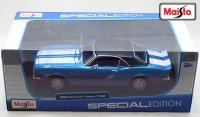 マイスト 1968 シボレー カマロ Z/28 ブルー/ブラックルーフ 1:18