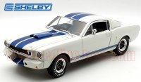 シェルビーコレクティブルズ 1965 シェルビー GT350R ホワイト/ブルーストライプ 1:18