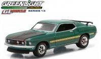 グリーンライト GL MUSCLE #13 1969 フォード マスタング MACH1 グリーン 1:64