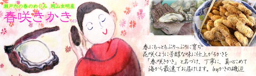 かき(牡蠣・カキ)の磯辺 〜岡山虫明産「春咲きかき」のページへようこそ〜