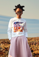 <img class='new_mark_img1' src='//img.shop-pro.jp/img/new/icons20.gif' style='border:none;display:inline;margin:0px;padding:0px;width:auto;' />Space Party  【Cropped Sweatshirt 】SALE★