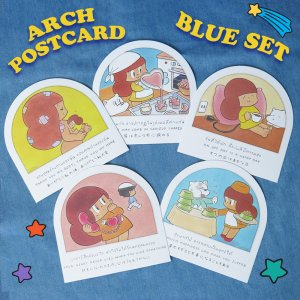 ARCH POSTCARD【BLUE SET】(5枚セット)