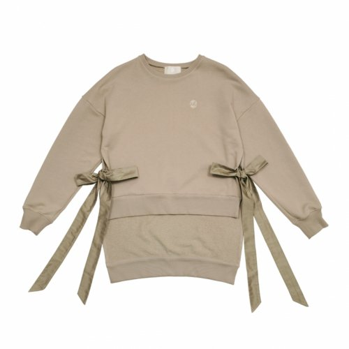 <img class='new_mark_img1' src='//img.shop-pro.jp/img/new/icons61.gif' style='border:none;display:inline;margin:0px;padding:0px;width:auto;' />Side Slits Bow Sweatshirt●予約注文