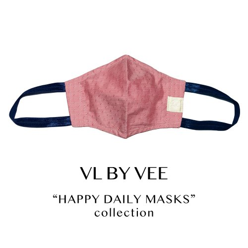 HAPPY DAILY MASKS /Sparkling Breeze/RED【イヤーループ・太め】
