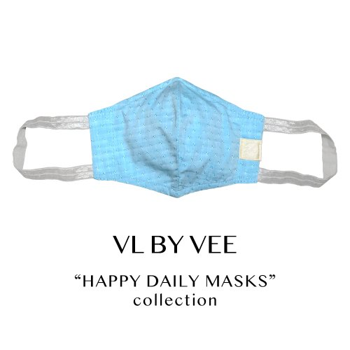 HAPPY DAILY MASKS /Sparkling Breeze/BLUE【イヤーループ・太め】