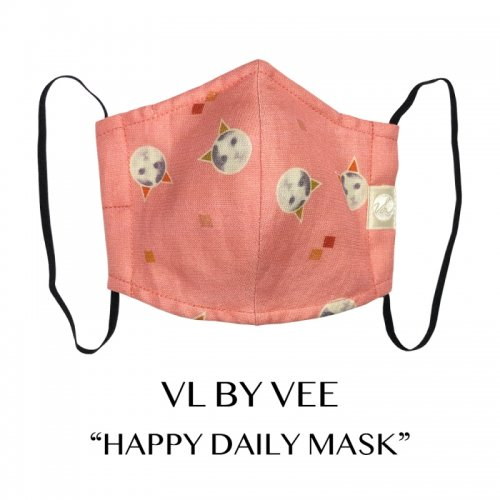 <img class='new_mark_img1' src='https://img.shop-pro.jp/img/new/icons1.gif' style='border:none;display:inline;margin:0px;padding:0px;width:auto;' />HAPPY DAILY MASKS/Pink【イヤーループ・細め】