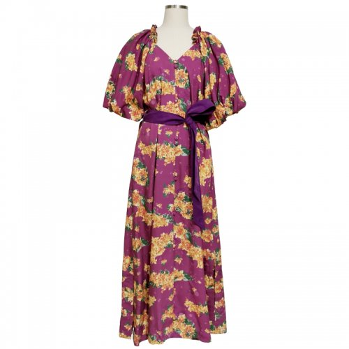 <img class='new_mark_img1' src='https://img.shop-pro.jp/img/new/icons61.gif' style='border:none;display:inline;margin:0px;padding:0px;width:auto;' />Bougainvillea Puffy Maxi Dress (3 way)★SAMPLE SALE