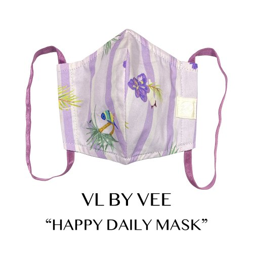 HAPPY DAILY MASKS/Sanctuary Island/Purple【イヤーループ・細め】