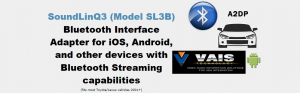 VAIS SL3B Bluetooth接続 30系後期ハリアー iPodアダプター 日本語表示対応版