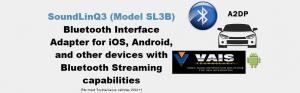 VAIS SL3B Bluetooth接続 20系後期プリウス iPodアダプター 日本語表示対応版