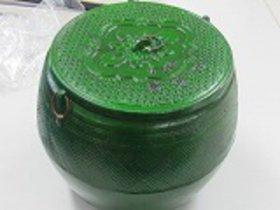 火消し壺 鋳物 超特大 業務用火消し壺です直29cmH27.5cm