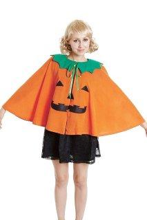 【購入不可】コスプレ クリスマス ショートパンプキンマント クリスマスコスチューム halloween かぼちゃ パンプキン 忘年会 衣装 ハロウィーン 結婚式 二次会 余興 クリスマス 出し物