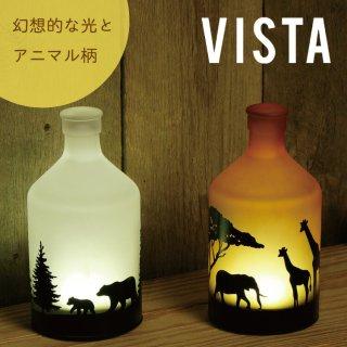 インテリア 照明 LED Bottle Light VISTA ボトルライト ビスタアニマル コードレス おしゃれ ガラス タイマー 間接照明 照明器具 コンパクト ハンドメイドガラス ギフト