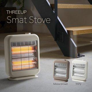 アッシュブルー廃盤 ストーブ 暖房機器 スマートストーブ DST-1631 電気ストーブ 電気ヒーター おしゃれ かわいい コンパクト 小型 2段階 マット コード収納 安全装置 暖房器具