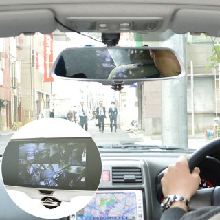ドライブレコーダー 前後 360度 ミラー型 車内撮影 リアカメラ付き ミラー型360度全方位ドライブレコーダー CDVR36RC 前方 車内 後方 前後 バックカメラ バックモニター 録画