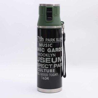 水筒 ブルックリン 超軽量ダイレクトボトル ブルックリン/SDMC12 1リットル 大容量 直飲み ワンタッチ ステンレス 軽量 軽い 1200ml 保冷 紐付き ストラップ付き 熱中症予防
