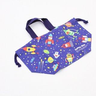 弁当袋 Cosmic Star ランチ巾着 Cosmic Star/KB7 キャラクター Cosmic Star 宇宙 ロケット ロボット 弁当袋 巾着 子ども 子供 ランチ お弁当 お出かけ