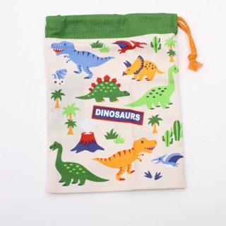 恐竜柄 コップ袋 DINOSAURS コップ袋 DINOSAURS/KB62 キャラクター DINOSAURS 恐竜 コップ袋 巾着 子供 子ども 幼稚園 飲み物 プレゼント 入園 入学