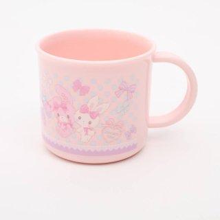 ぼんぼんりぼん コップ 食洗機対応プラコップ ぼんぼん くまさん/KE4A だいすきくまさん うさぎ ピンク リボン うさぎいっぱい プラスチック 割れにくい かわいい カワイイ 可愛い