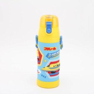水筒 プラレール 3Dロック付ダイレクトボトル プラレール/SDPV5 子供用 子ども用 軽量 軽い コンパクト ステンレス 直飲み ワンプッシュ 水筒 ステンボトル 保冷 ランチ お弁当 遠足