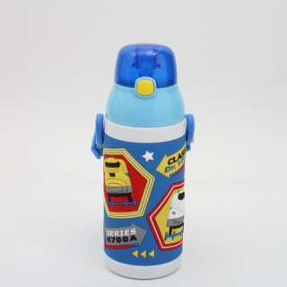 水筒 プラレール 3Dワンプッシュストローボトル プラレール/SSPV4 子ども 子供用 ストロータイプ ストロー付き ストロー飲み ステンレスボトル 水筒 保冷 お弁当 ランチ 遠足 運動会